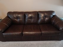 Leather couch in Valdosta, Georgia