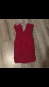 Woman's Red Dress in Fort Carson, Colorado