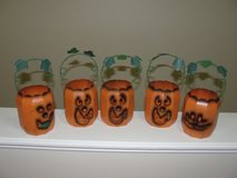 "HALOWEEN 5 PC ""METAL PUMPKIN CANDLE HOLDERS"" FOR OUTSIDE in Camp Lejeune, North Carolina"