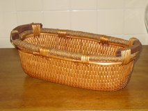 wood handled basket 16x6 in St. Charles, Illinois