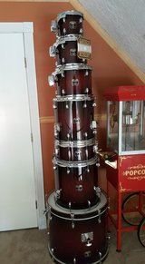 Gretsch Catalina Deep Cherry Maple 7 piece Drum Set & all Hardware.  Listing below in Houston, Texas