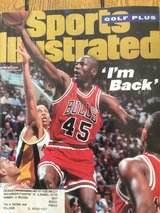 "Michael Jordan Sports Illustrated ""I'm Back"" in St. Charles, Illinois"