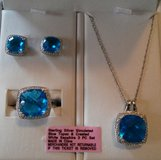 Blue topaz & white sapphire 3 pc set in Columbia, South Carolina