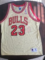Michael Jordan Gold Champion Jersey Size 48-Rare in St. Charles, Illinois
