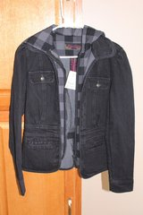NWT Juniors Hooded Denim Jacket in Fort Leonard Wood, Missouri