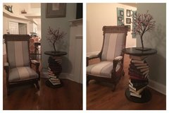 Stacked book end table in Kona finish - custom made NEW in Cherry Point, North Carolina