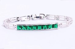 New - Green Quartz Silver Bracelet in Alamogordo, New Mexico