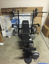 Weight bench with weights in Temecula, California
