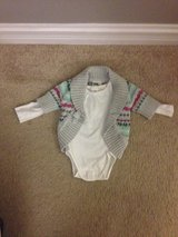 12 month girl sweater & onsie in Glendale Heights, Illinois