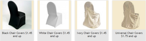 Chair Covers for Rental - Best Buy in Just $1.75 in Fort Wayne, Indiana