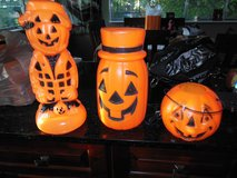 Halloween vintage small blow mold's lite up plug in in Algonquin, Illinois