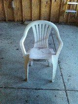 WHITE PLASTIC OUTDOOR CHAIR..-ROMEOVILLE in Lockport, Illinois