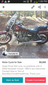 Motor Cycle for Sale in Warner Robins, Georgia