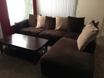 Sectional and coffee table in Temecula, California