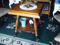 outstanding ball and claw foot parlor table in Camp Lejeune, North Carolina