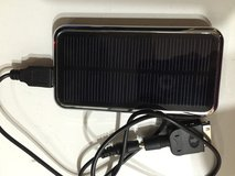 Portable solar electronics charger in Yucca Valley, California