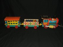 Vintage Fisher Price Pull Toy Train Huffy Puffy in Aurora, Illinois