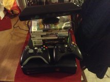 Xbox 360 With Kinect, Controllers and Games in Fort Leonard Wood, Missouri