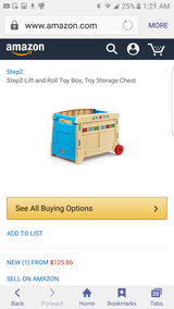Step 2 lift & roll toy box new in Lockport, Illinois