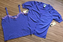 *REDUCED* NEW 2 Piece Purple Top with Sweater Set in Okinawa, Japan