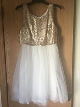Gold and Ivory Party Dress, NWT in Oswego, Illinois