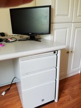 Mini Desks- Gray color with 1-drawer pedestal in Naperville, Illinois