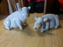 Ceramic pigs in Batavia, Illinois