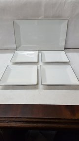 Silver/White Serving Tray With Appetizer Plates in The Woodlands, Texas