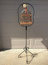 Wrought iron bird cage stand in Fairfield, California