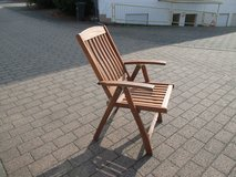 wooden folding chair, wide seat in Ramstein, Germany
