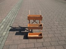 step-like wooden plant stand --- SOLD in Ramstein, Germany