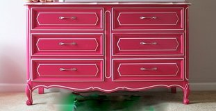 Dresser Pink Henry Link have a 9 drawer also and a nightstand in Morris, Illinois