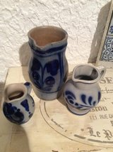 Salt glaze pottery pitchers in Ramstein, Germany
