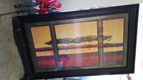 Acacia Trees - Wall art w/ Frame in Oswego, Illinois