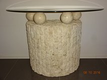 Stone and glass top coffee table and high table -  Reduced! in Ramstein, Germany