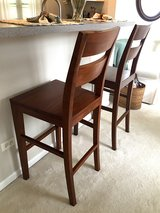 Crate and Barrel Honey Basque Bar Stools (2) in Naperville, Illinois