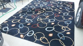 Shaw / Black / Abstract Large Area Rug in Fort Campbell, Kentucky
