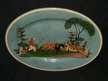 Vintage Salt Glazed Ceramic Platter SouthWest Farm Scene in Bolingbrook, Illinois
