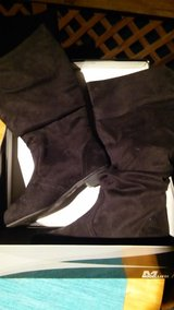 Size 5 suede black boots in Plainfield, Illinois