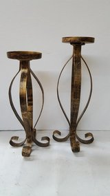 "Kirkland's 2 Piece Metal Candle Holder Set 11""x13"" in Kingwood, Texas"