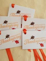 Folded Thanksgiving Gift Tags Handmade in Ramstein, Germany