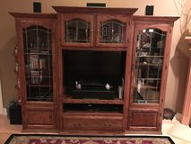 Beautiful, 3 Piece Oak Entertainment Center...A Must See! in Moody AFB, Georgia