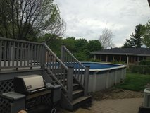 Swimming Pool and composite decking in Joliet, Illinois