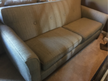 Rowe couch with ottoman... Like brand new... in Lockport, Illinois