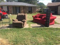 Couch recliner DVD holder and much more for freeeee in Travis AFB, California