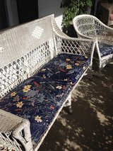 Wicker couch and rocking chair in Bartlett, Illinois
