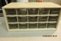 Antique Table Top Nails/Bolts Chest With 15 Drawers in Houston, Texas