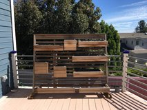Vertical balcony planter wall in Camp Pendleton, California