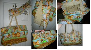 Handmade Jungle Babies Diaper Bag w/ Matching Changing Pad Baby XL / Large Tote in Houston, Texas