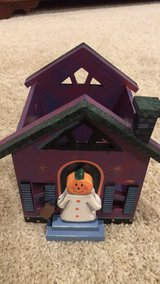 Halloween Wooden Jar Candle Holder in Kankakee, Illinois